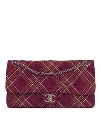 Bolsa de mano en ante violeta Timeless/Classique Chanel de color Purple