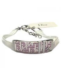 Dior - Metallic Pre-owned Silver Metal Bracelet - Lyst