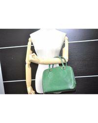 Sac à main en Cuir Vert Louis Vuitton en coloris Green