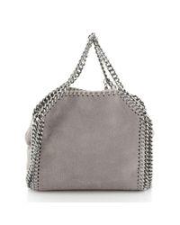 Bolsa de mano en cuero gris Stella McCartney de color Gray
