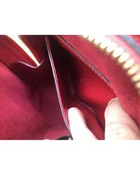 Zaino in pelle rosso Mabillon di Louis Vuitton in Red