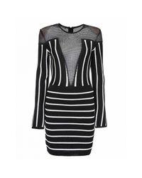 Mini robe Balmain en coloris Black