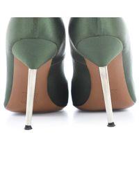 Escarpins en Toile Vert Lanvin en coloris Multicolor