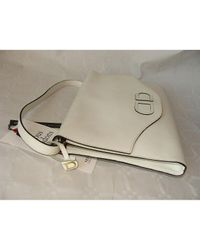 Delvaux White Leder Cross Body Tashe