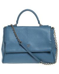 Carolina Herrera Blue Leder Handtaschen