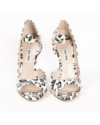 Miu Miu White Patent Leather Heels