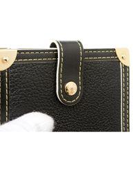 Louis Vuitton Black Leder Portemonnaies
