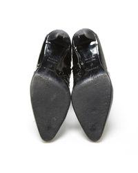 Hermès Black Lackleder Stiefeletten