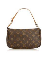 Borsa a mano in plastica marrone di Louis Vuitton in Brown