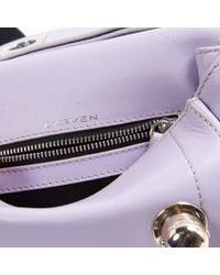 Carven Purple Leder Clutches