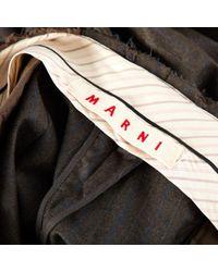 Pantalons en Laine Gris Marni en coloris Gray