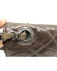 Chanel Brown Timeless/Classique Leder Handtaschen