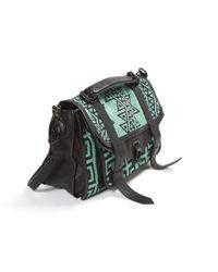 Proenza Schouler Black Ps1 Leather Satchel