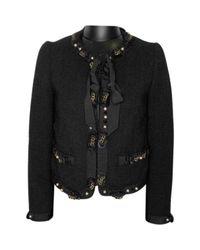 Vest en Laine Noir Moschino en coloris Black