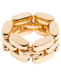 Roberto Cavalli - Metallic Gold Metal Bracelet - Lyst