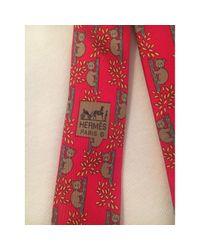 Cravatte Rosso di Hermès in Red da Uomo