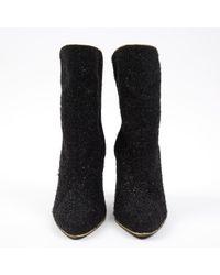 Scarpe con tacco in tela nero di Balmain in Black