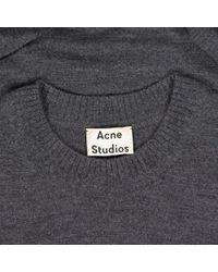 Pull-over en laine Acne en coloris Gray