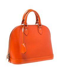 Louis Vuitton Orange Alma Leder Handtaschen