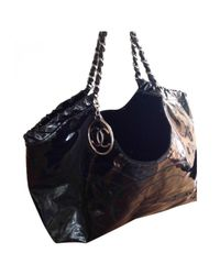 Chanel Black Pre-owned Coco Cabas Patent Leather Tote