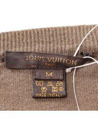Top en Cachemire Beige Louis Vuitton en coloris Natural
