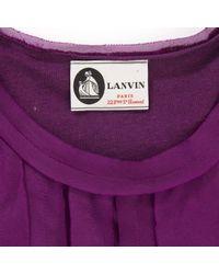 Lanvin Purple Top Seide Rosa
