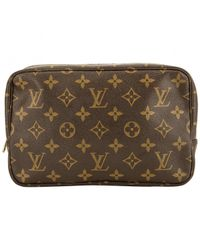 Louis Vuitton - Brown Cloth Vanity Case - Lyst