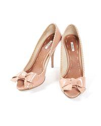 Miu Miu \n Pink Patent Leather Heels