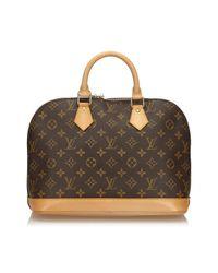 Louis Vuitton Multicolor Alma Leinen Handtaschen