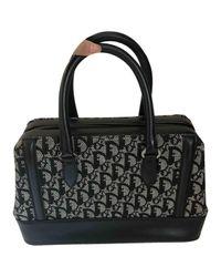Dior Black Leinen Handtaschen