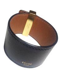Céline - Black Pre-owned Leather Bracelet - Lyst