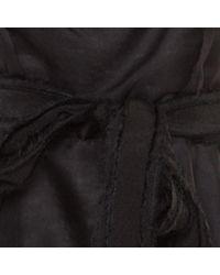 Vestido en seda negro Lanvin de color Black