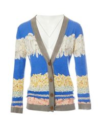 Missoni Blue Multicolour Cashmere Knitwear
