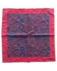 Echarpe en soie Dior pour homme en coloris Red
