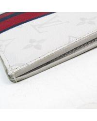 Louis Vuitton White Leinen Clutches