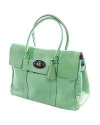 Mulberry Green Bayswater Leder Handtaschen