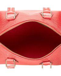 Borse a mano Speedy Bordeaux di Louis Vuitton in Red