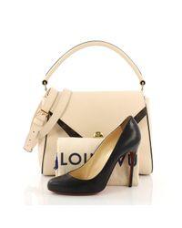 Borsa a mano in pelle marrone Double V di Louis Vuitton in Brown