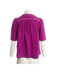Isabel Marant Purple Seide bluse