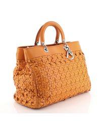 Dior Orange Lady Leder Handtaschen