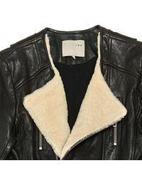 IRO Brown Zip-up Leather Jacket