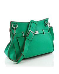 Bandolera Jypsiere de Cuero Hermès de color Green