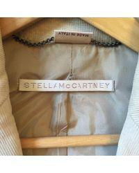 Stella McCartney Natural Jacke Baumwolle Beige