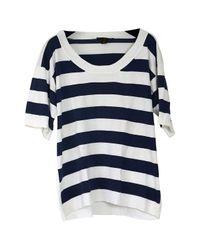 Louis Vuitton Blue Top Baumwolle Weiß