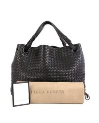 Bottega Veneta Black Leder Shopper