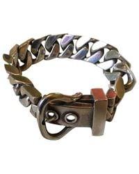 Hermès Metallic Ceinture Silver Bracelet