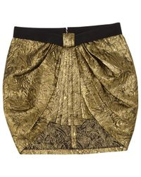 Isabel Marant Metallic Pre-owned Wool Mini Skirt