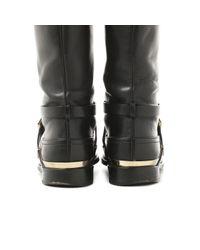 Dior Black Leder Stiefel