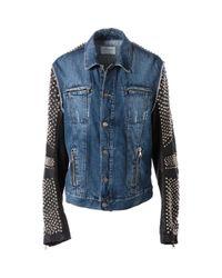 Philipp Plein Blue Cotton Jacket