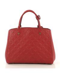 Bolsa de mano en cuero rojo Montaigne Louis Vuitton de color Red